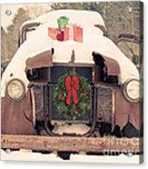 Christmas Car Card Acrylic Print