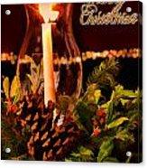 Christmas Card Digital Paint Acrylic Print