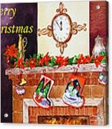 Christmas Card Acrylic Print by Irina Sztukowski