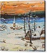 Christmas Card Painting Acrylic Print
