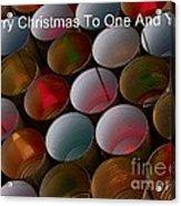 Christmas Card Acrylic Print