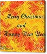 Christmas Cards And Artwork Christmas Wishes 37 Acrylic Print