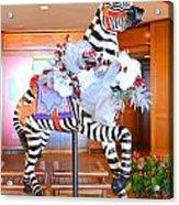 Christmas Carousel Zebra Acrylic Print