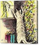 Christmas Cat Acrylic Print