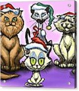 Christmas Cats Acrylic Print