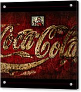 Christmas Coca Cola 1881 Santa Acrylic Print