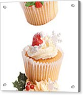 Christmas Cupcake Tower Acrylic Print