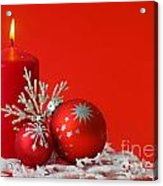 Christmas Decoration Background Acrylic Print