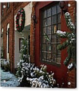Christmas Decorations In Grants Pass Old Town  Acrylic Print