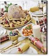 Christmas dinner Acrylic Print