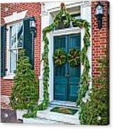 Christmas Door 6 Acrylic Print