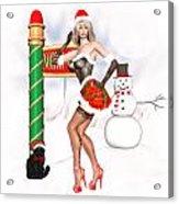 Christmas Elf Cleo Acrylic Print