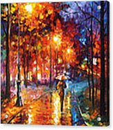Christmas Emotions - Palette Knife Oil Painting On Canvas By Leonid Afremov Acrylic Print
