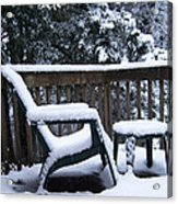 Christmas Eve Deck Chair Acrylic Print