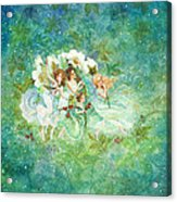 Christmas Fairies Acrylic Print by Lynn Bywaters