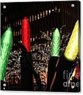 Christmas Festive In New York City Acrylic Print