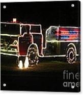 Christmas Fire Truck 2 Acrylic Print