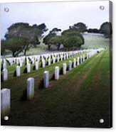 Christmas Fort Rosecrans National Cemetery  Acrylic Print