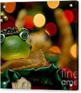Christmas Frog Acrylic Print