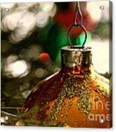 Christmas Gold Acrylic Print