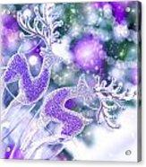 Christmas Greeting Card Acrylic Print