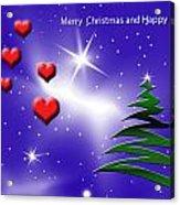 Christmas Hearts Acrylic Print