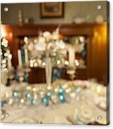 Christmas Holiday Dinner Table Decoration Blurred Acrylic Print