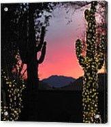Christmas In Arizona Acrylic Print