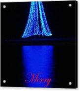 Christmas In Blue Acrylic Print