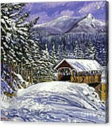 Christmas In New England Acrylic Print by David Lloyd Glover