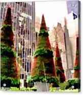 Christmas In New York City Acrylic Print
