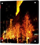 Christmas In New York - Trees And Star Acrylic Print