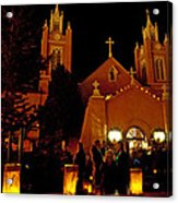 Christmas In Old Town IIi Acrylic Print