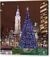 Christmas In Philadelphia Acrylic Print
