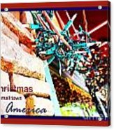 Christmas In Small Town America Acrylic Print