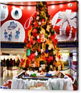 Christmas In The Train Station Acrylic Print