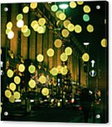 Christmas Lights In Oxford Streeet Acrylic Print