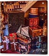 Christmas Luggage Color Acrylic Print