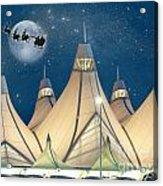 Christmas Night At Denver International Airport Acrylic Print