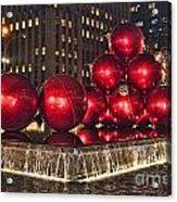 Christmas On 5th Avenue Manhattan 1 Acrylic Print