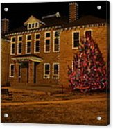 Christmas On The Square Acrylic Print