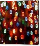 Christmas Polka Dots Acrylic Print