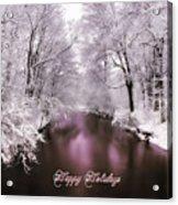 Christmas Pond Acrylic Print