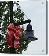 Christmas Post And Bow Acrylic Print