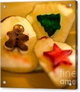 Christmas Potato Stamps Acrylic Print