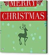 Christmas Reindeer Greeting Card Acrylic Print