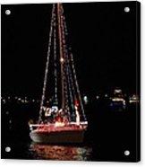 Christmas Sailboat Acrylic Print