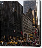 Christmas Shopping On The World Famous Fifth Avenue Acrylic Print