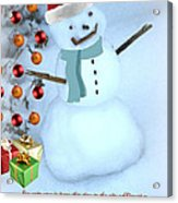 Christmas Snowman Acrylic Print