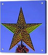 Christmas Star During Dusk Time Acrylic Print